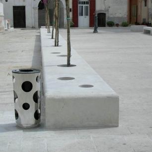 Pavimento, Panchine: Tango Bocciardato Fine