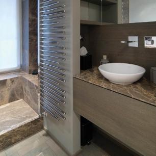 Rivestimento, top lavabo: Ambrato Chianca