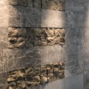 Wall: Ambrato Fiammato, Antique, Goffrato
