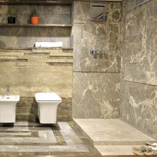 Internal Floor Tiles: Ambrato Chianca, Lucido, Basilea