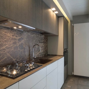 Cladding, kitchen top: Ambrato Chianca